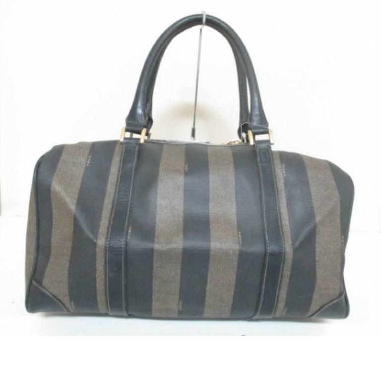 Vintage Fendi Gray And Black Pecan Stripe Speedy Style