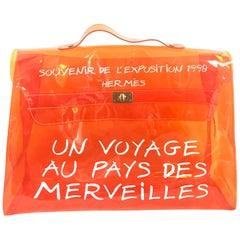 Vintage Hermes rare transparent orange vinyl Kelly bag Japan Limited Edition.