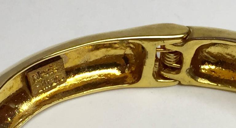 21st Century Alexis Bittar Unusual Goldtone Hinged Bracelet 4