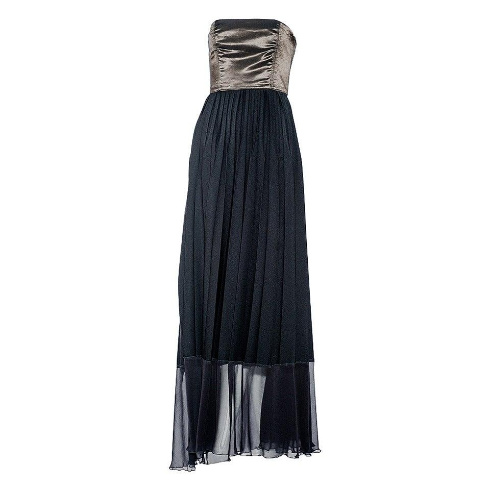 90s Jean Paul Gaultier black strapless dress For Sale