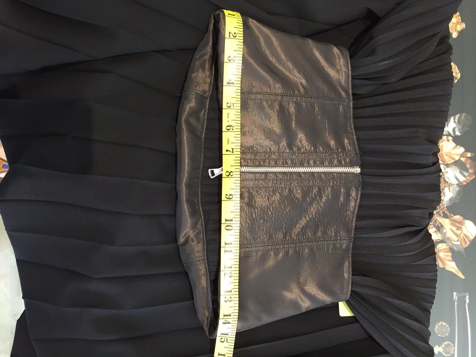 Black 90s Jean Paul Gaultier black strapless dress For Sale