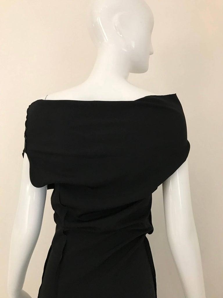 Vintage JIL SANDER Black Silk Dress  4