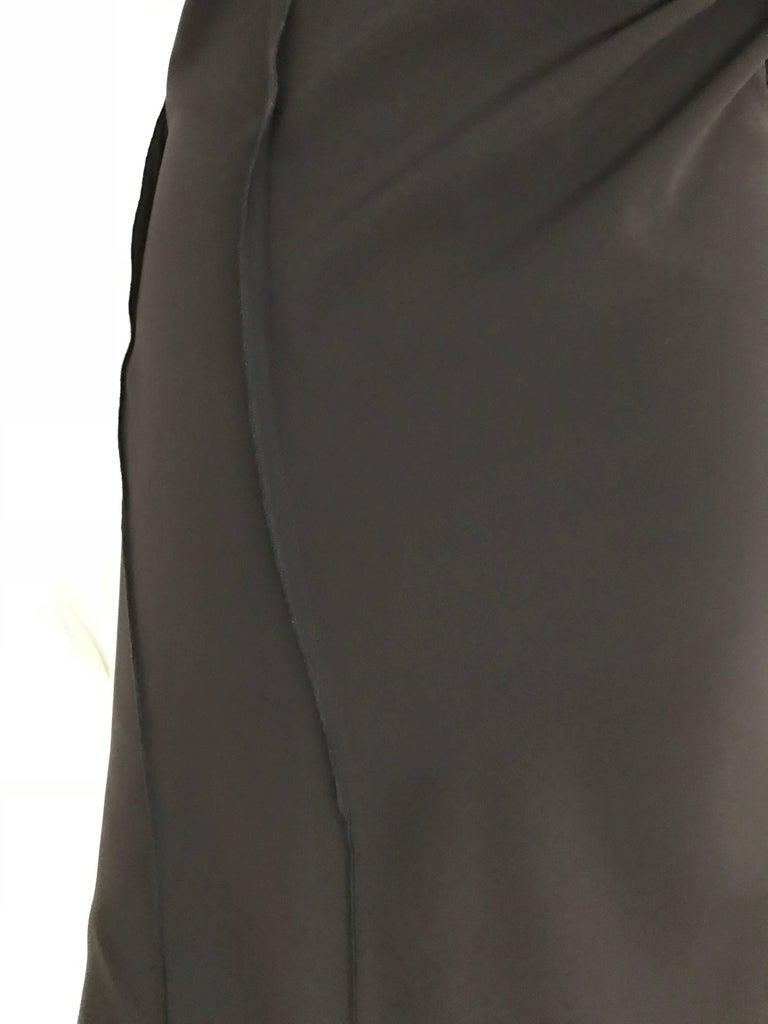Vintage JIL SANDER Black Silk Dress  5