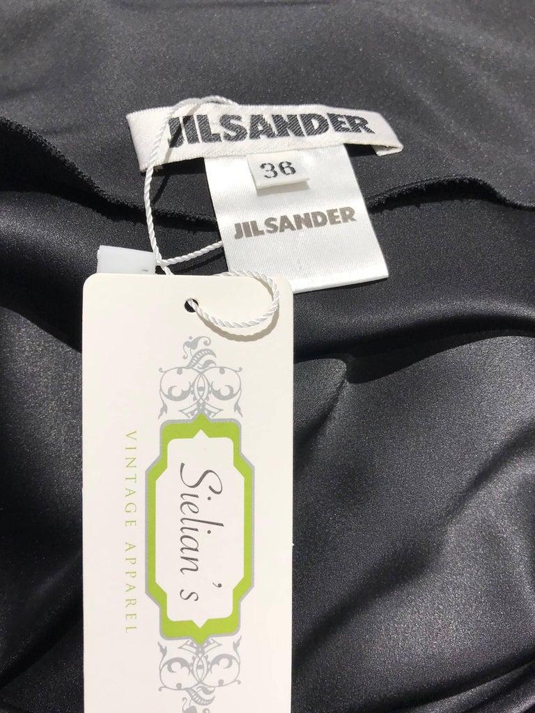 Vintage JIL SANDER Black Silk Dress  6