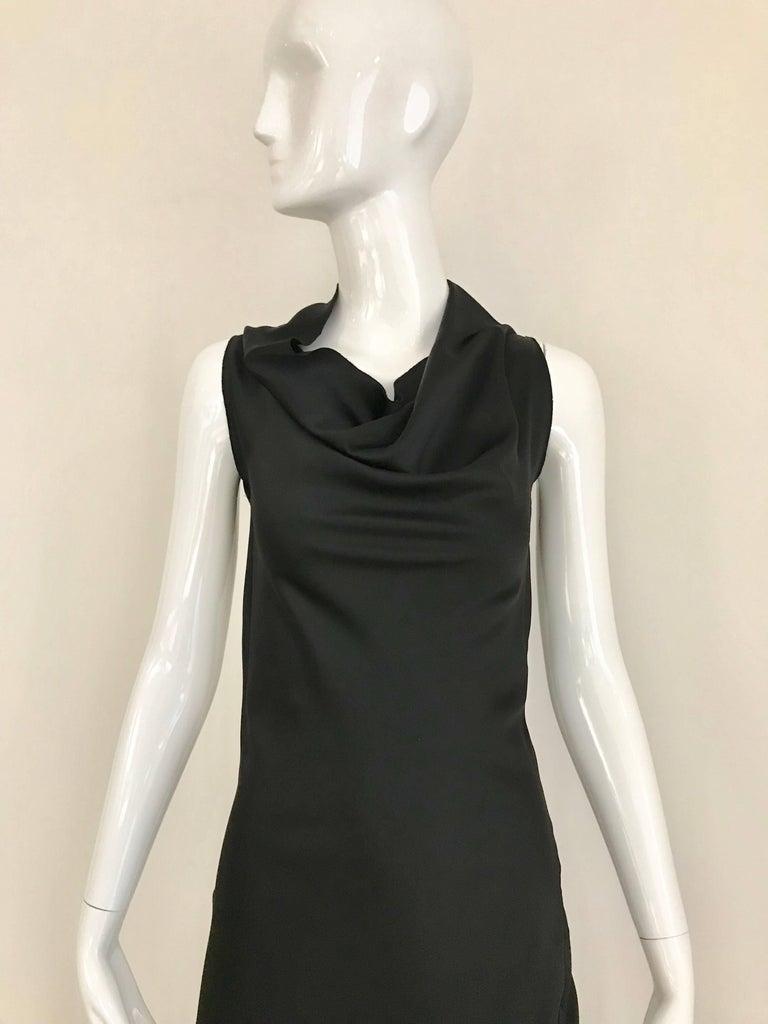 Vintage JIL SANDER Black Silk Dress  7