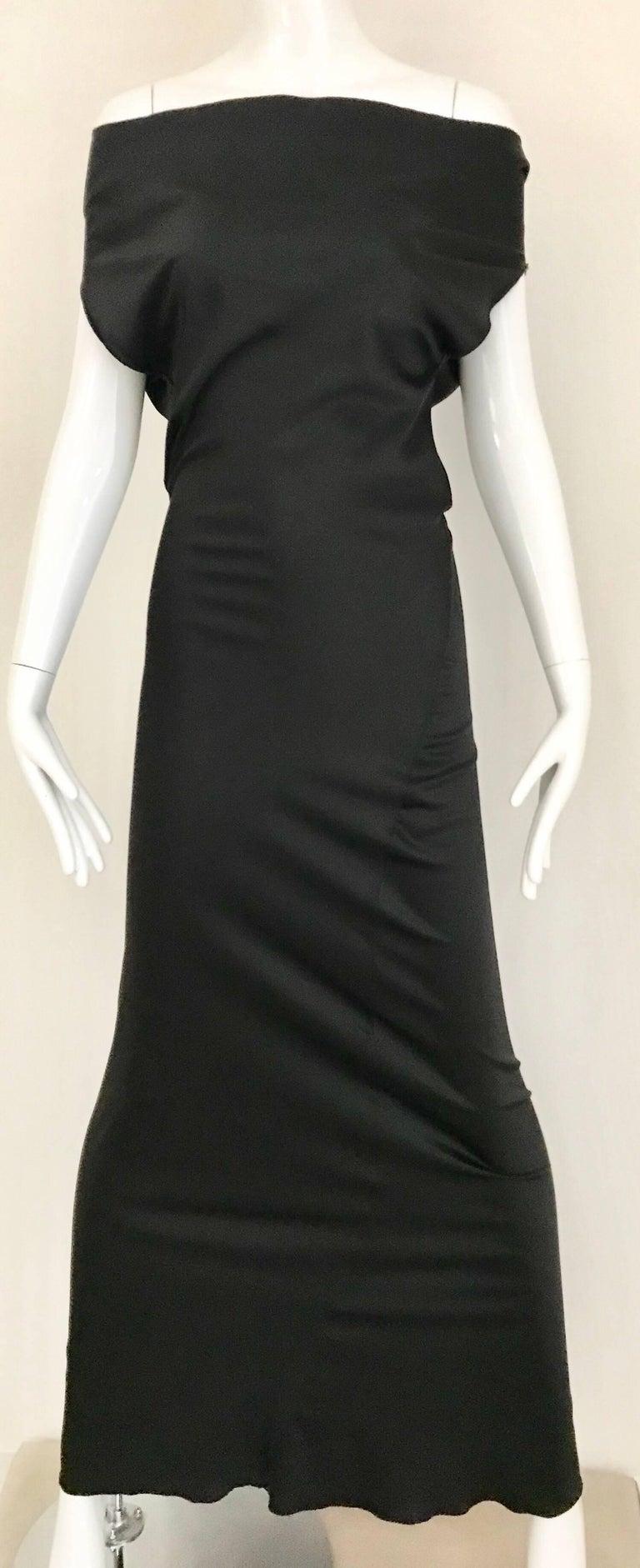 Vintage JIL SANDER Black Silk Dress  8