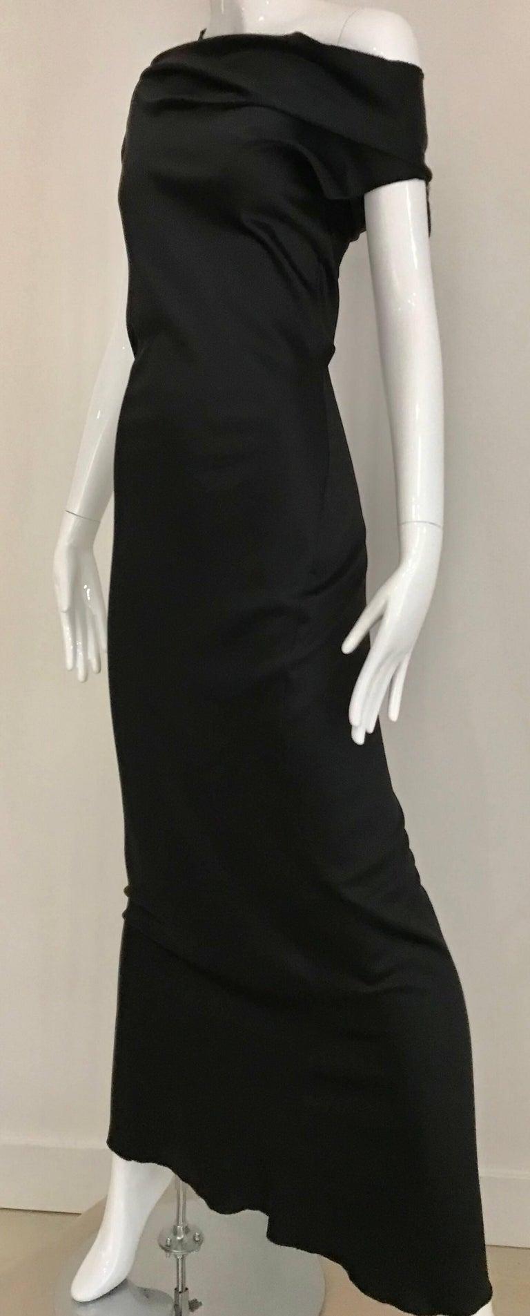 Vintage JIL SANDER Black Silk Dress  9