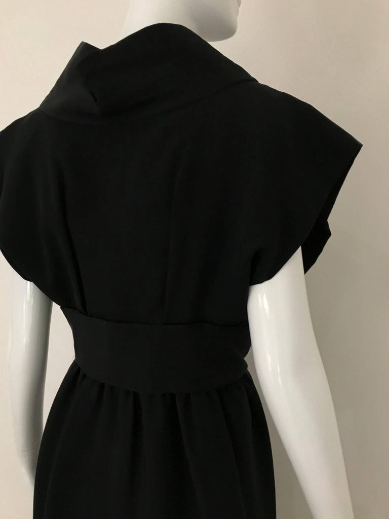 1960s Norman Norell Black Obi Dress  For Sale 5
