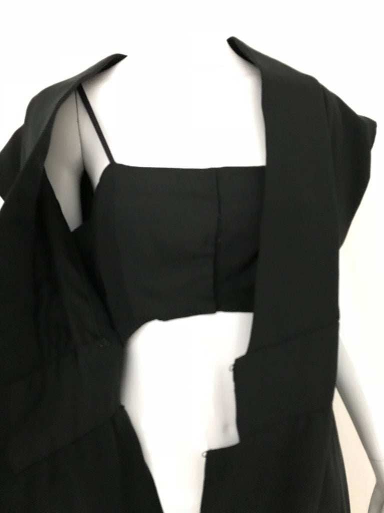 1960s Norman Norell Black Obi Dress  For Sale 3