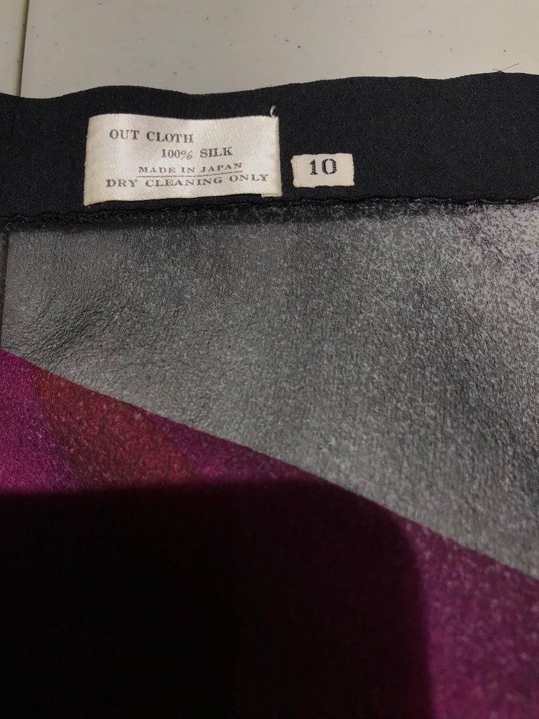 Vintage Hanae Mori Black and Pink Abstract Print Dress Skirt Ensemble For Sale 2