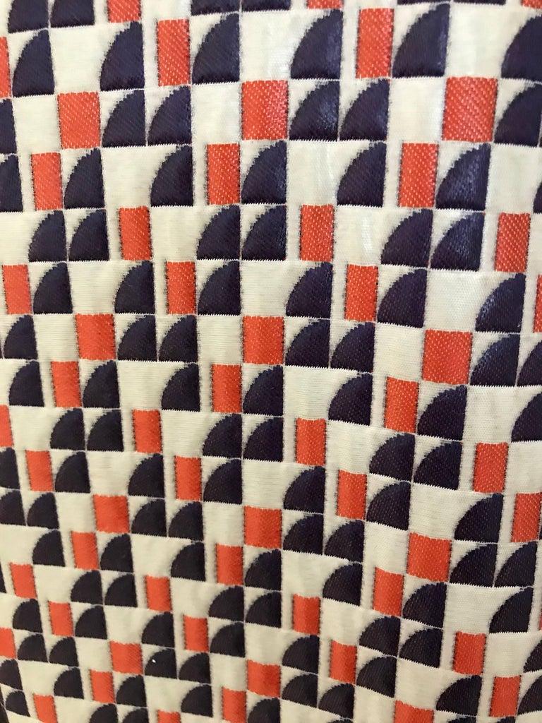 Beige 1960s Multi Color Checkered Print Coat For Sale
