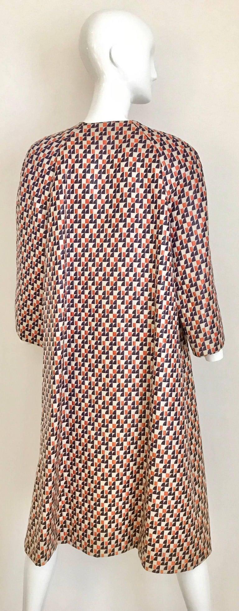 Women's 1960s Multi Color Checkered Print Coat For Sale