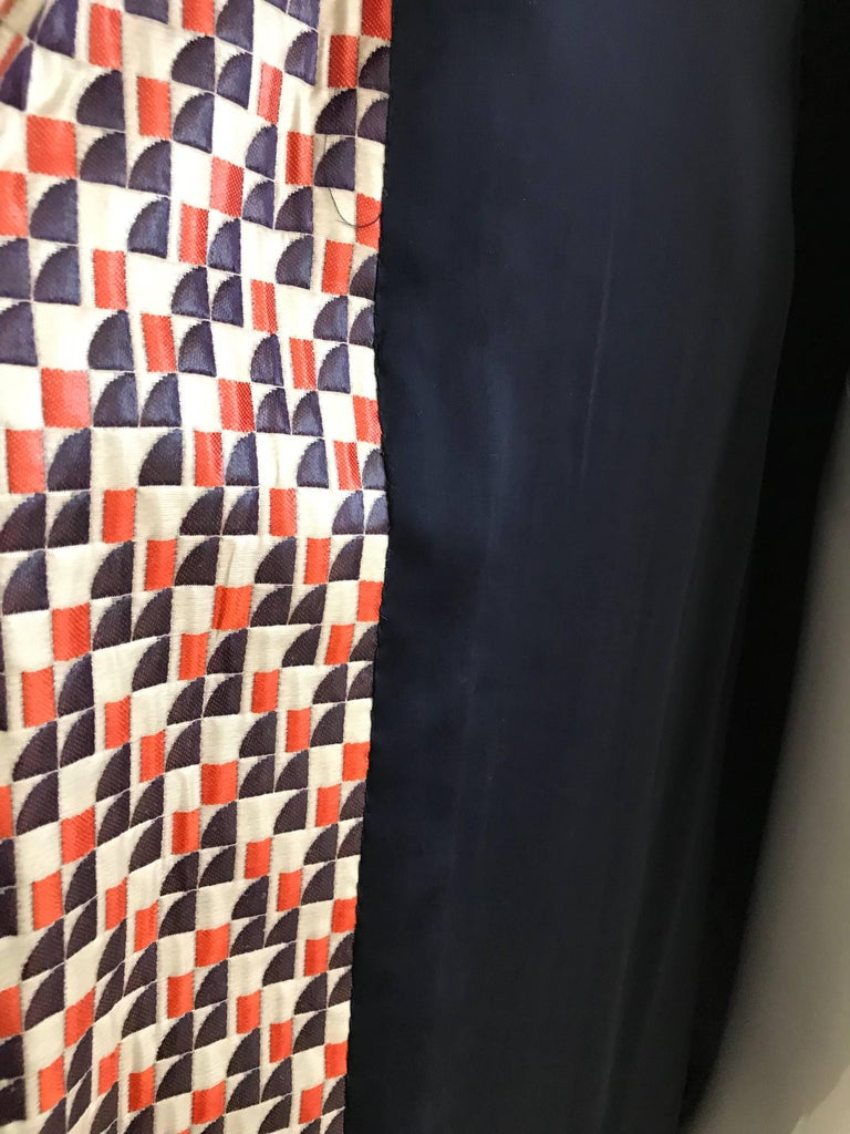 1960s Multi Color Checkered Print Coat For Sale 2
