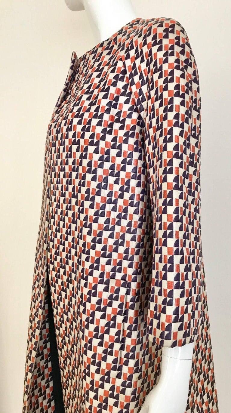 1960s Multi Color Checkered Print Coat For Sale 4