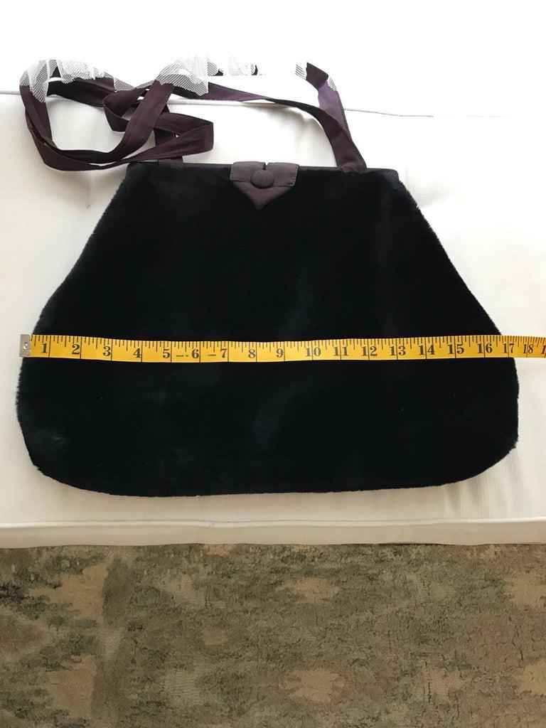 1980s Norma Kamali  Faux Fur Oversized Shoulder Bag  For Sale 1