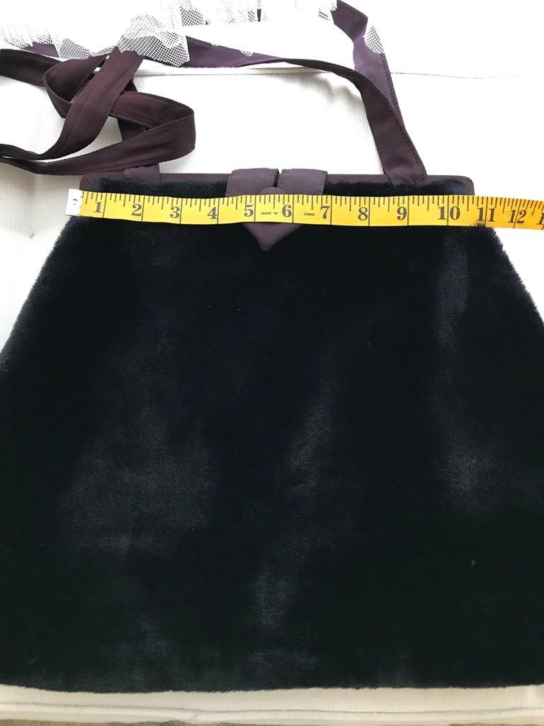 1980s Norma Kamali  Faux Fur Oversized Shoulder Bag  For Sale 2