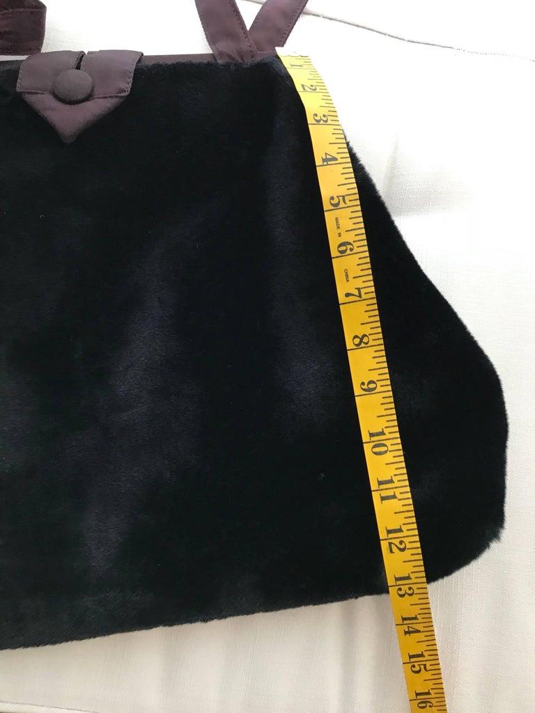 1980s Norma Kamali  Faux Fur Oversized Shoulder Bag  For Sale 3