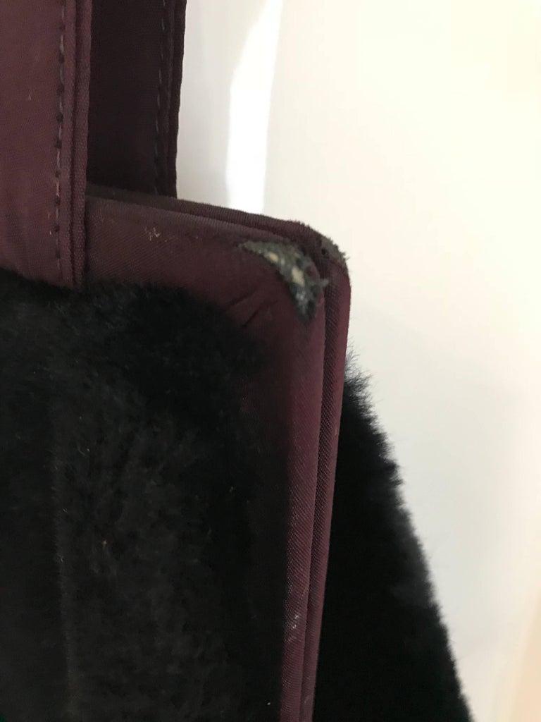 1980s Norma Kamali  Faux Fur Oversized Shoulder Bag  For Sale 5
