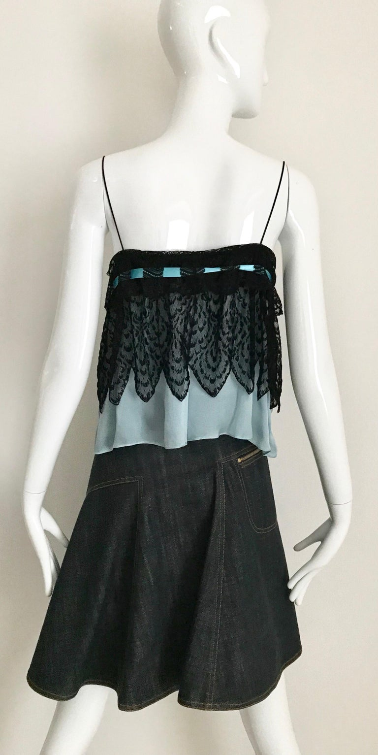 ALAIA Denim Zipper  Skirt For Sale 1