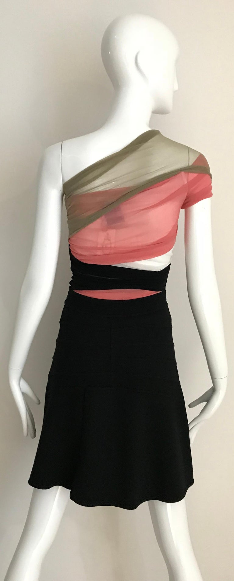 Women's Vintage ALAIA Black Wool Knit Flare Skirt For Sale