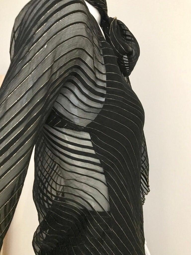 Vintage Julio Black and Gild Silk Blouse and Skirt Set  For Sale 1