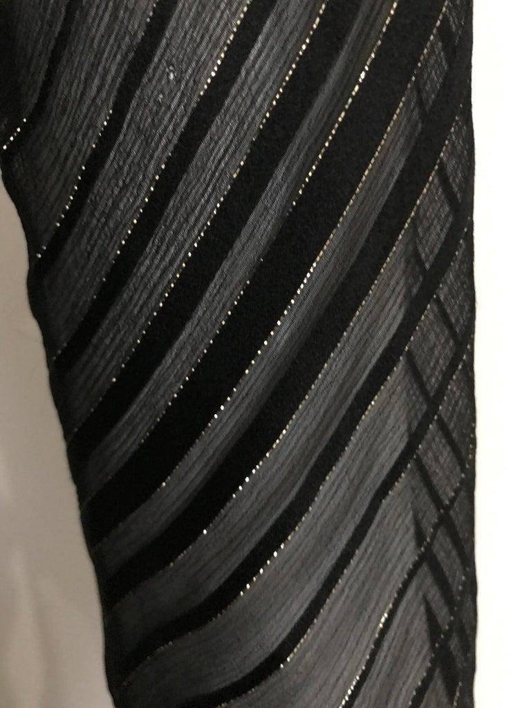Vintage Julio Black and Gild Silk Blouse and Skirt Set  For Sale 4