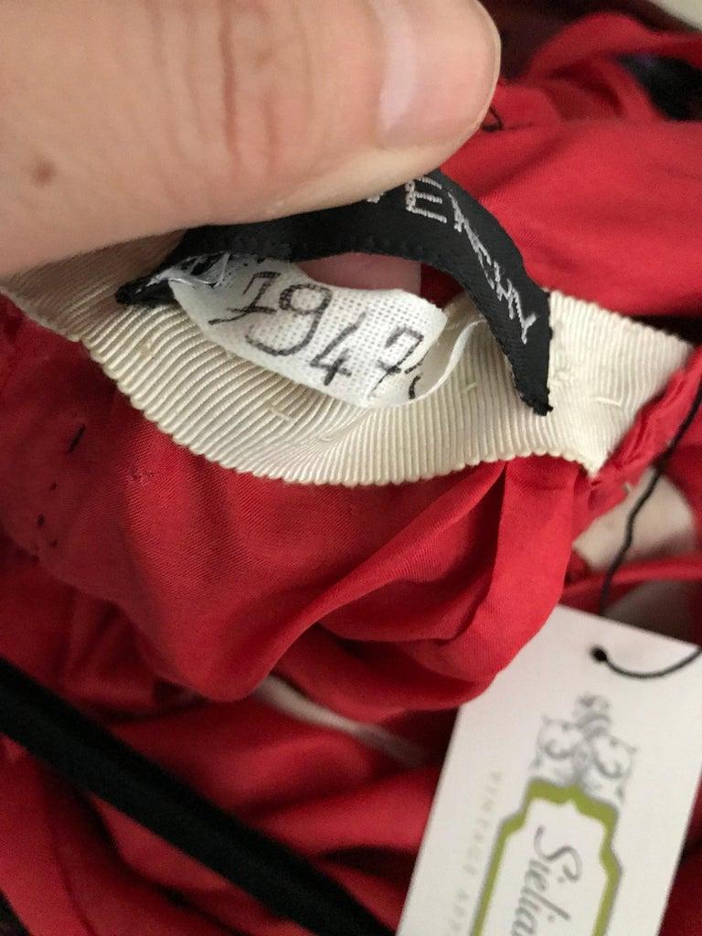 Givenchy Haute Couture Black Multi Color Dots Vintage Silk Dress For Sale 5