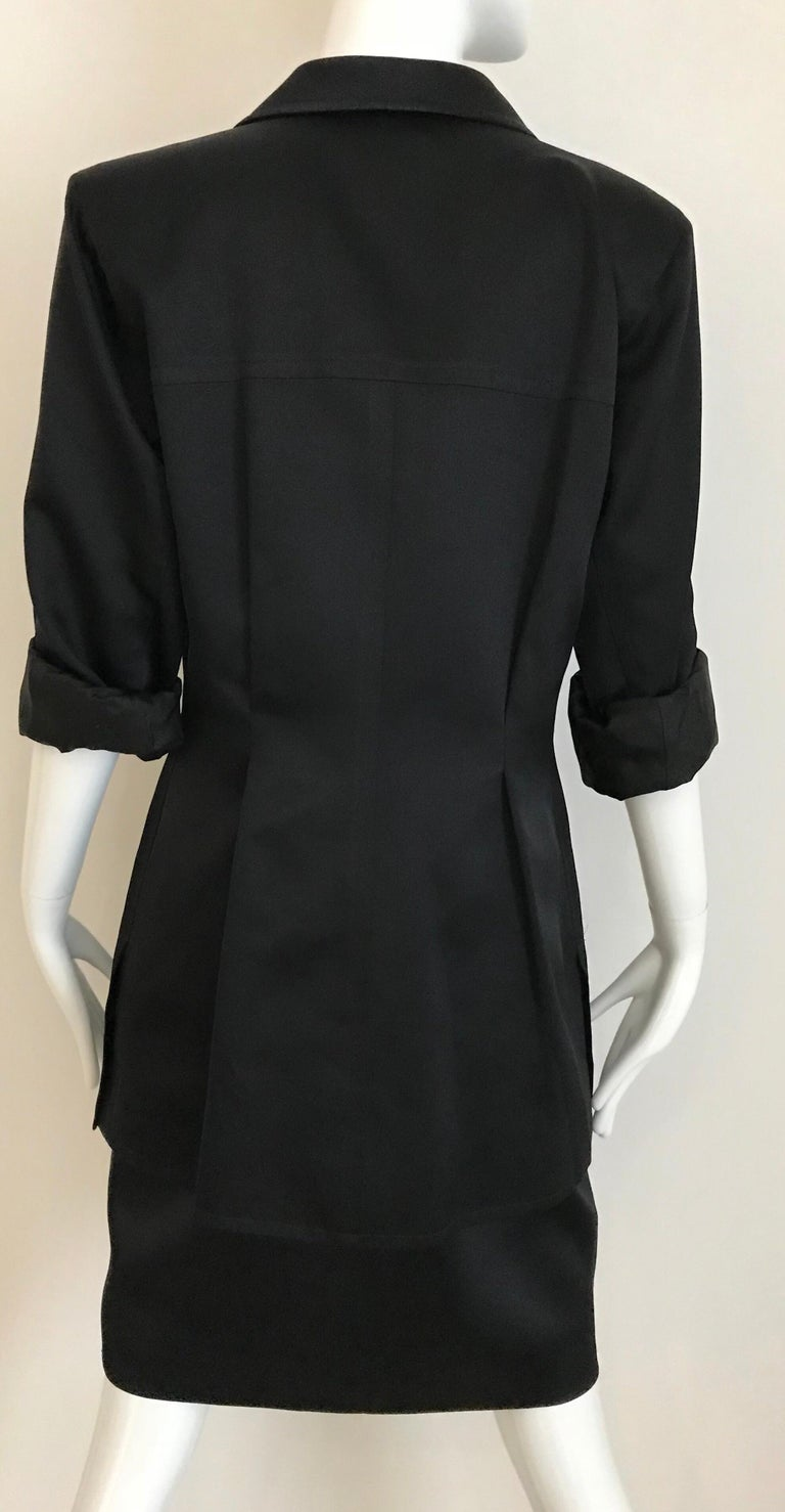 1990s Yves Saint Laurent YSL Black Safari Suit Sets For Sale 9