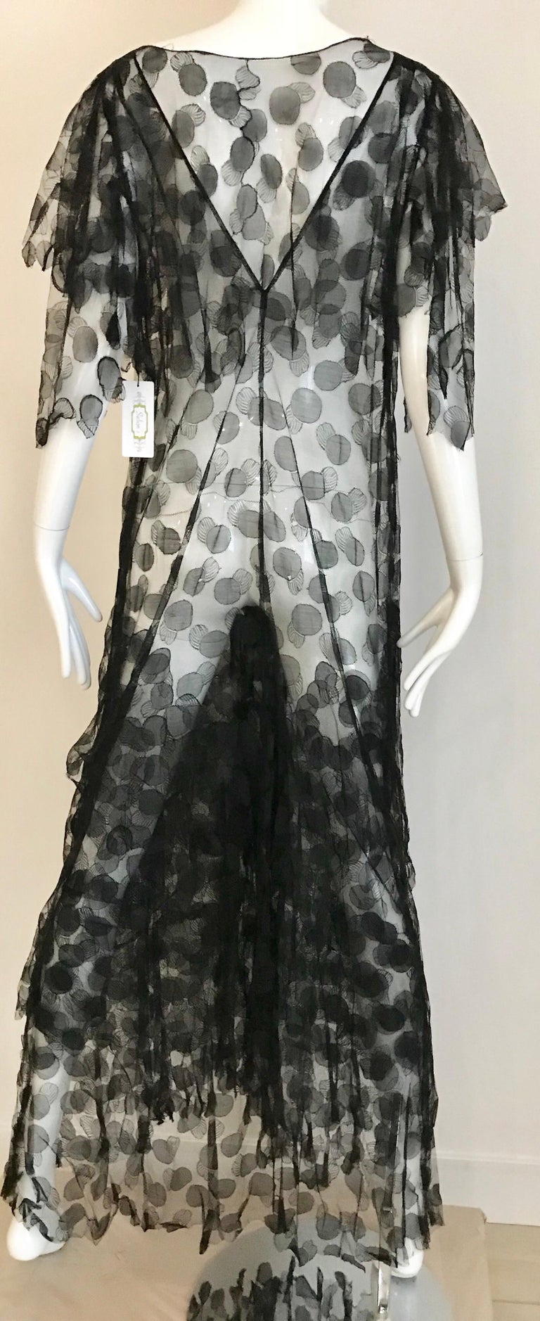 1930s Black Lace Gown For Sale 1