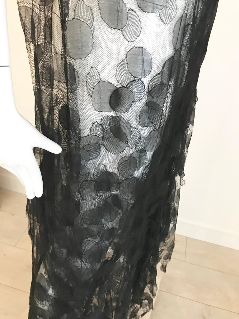 1930s Black Lace Gown For Sale 6