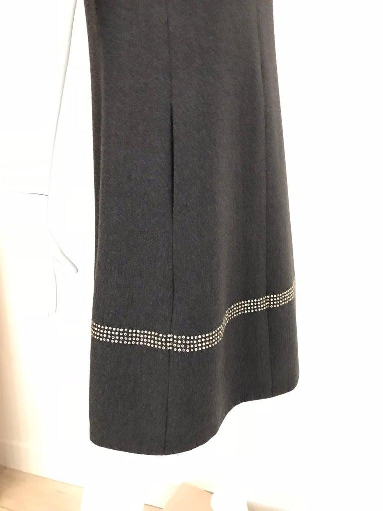 Black 1960s Geoffrey Beene Grey Wool Shift Dress For Sale