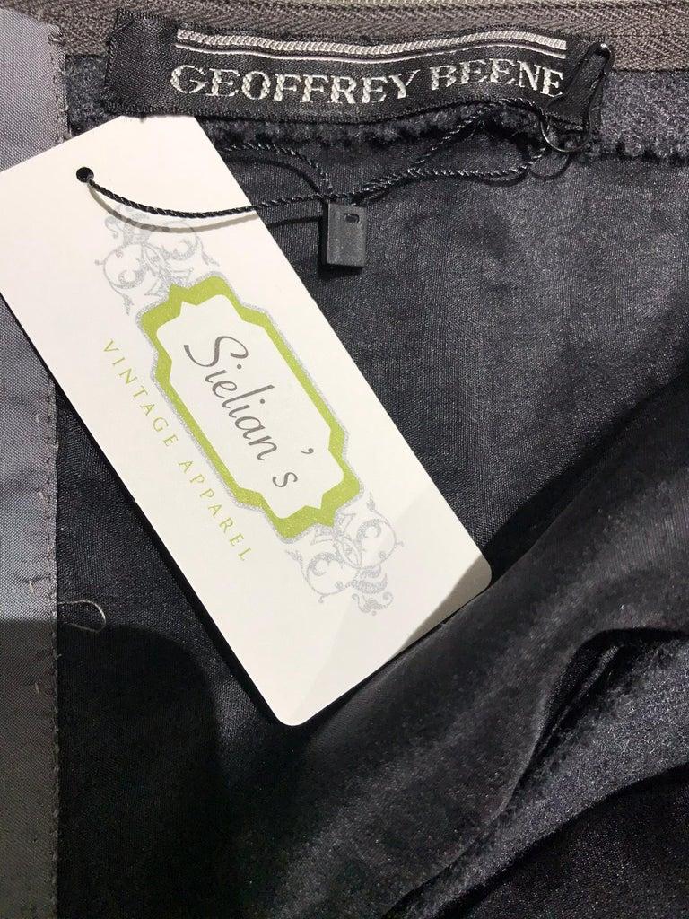 Women's 1960s Geoffrey Beene Grey Wool Shift Dress For Sale