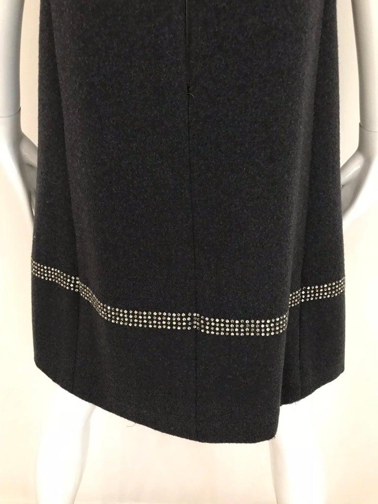 1960s Geoffrey Beene Grey Wool Shift Dress For Sale 3