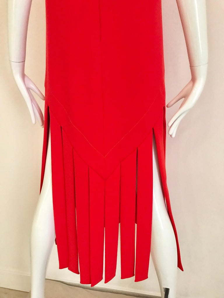 Vintage Pierre Cardin Sleeveless Crepe Dress  In Good Condition For Sale In Beverly Hills, CA