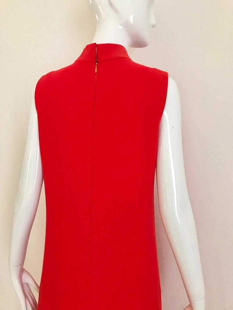Vintage Pierre Cardin Sleeveless Crepe Dress  For Sale 1