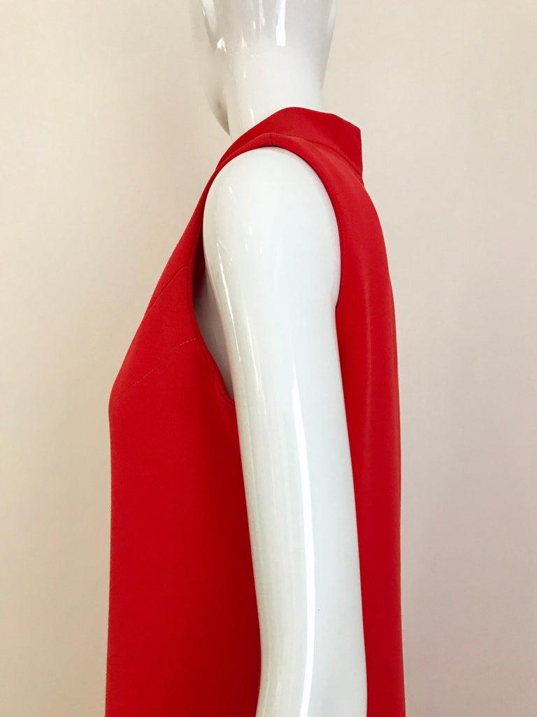 Vintage Pierre Cardin Sleeveless Crepe Dress  For Sale 2