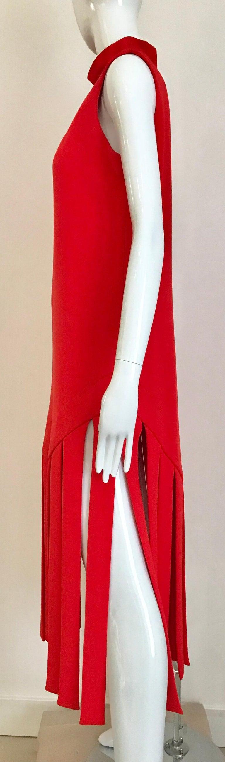 Vintage Pierre Cardin Sleeveless Crepe Dress  For Sale 3