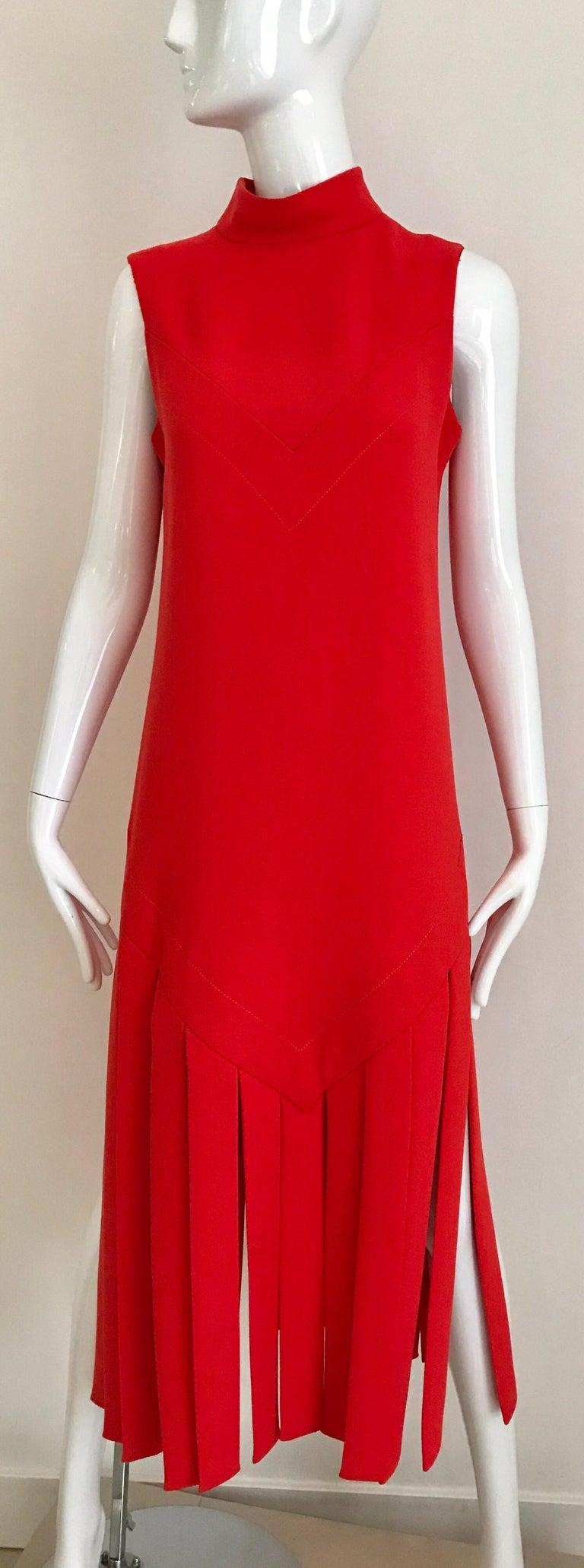 Vintage Pierre Cardin Sleeveless Crepe Dress  For Sale 6