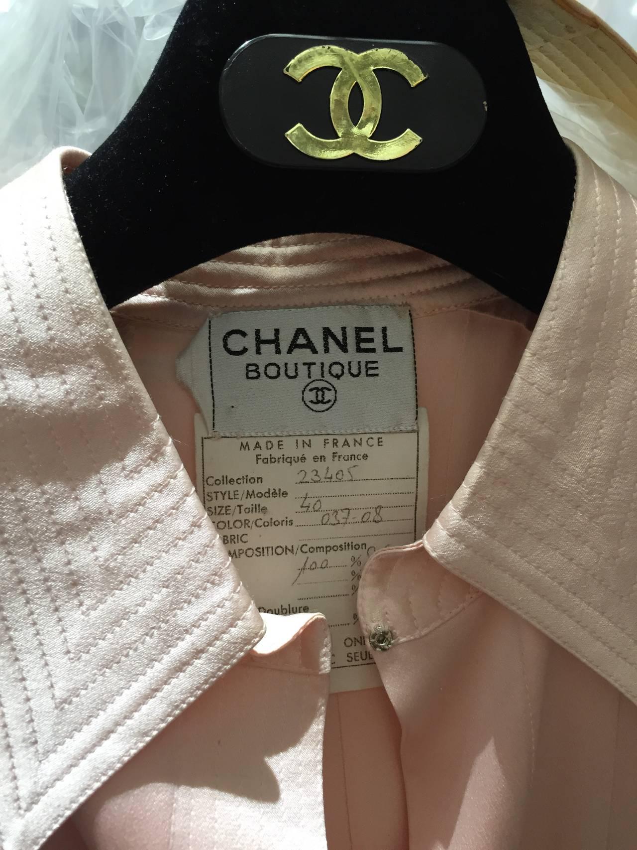 1980s Chanel Pink Silk  dress 3