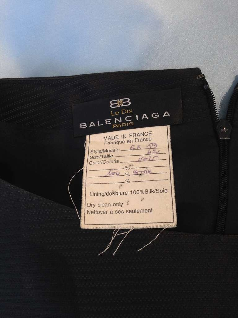 BALENCIAGA  blue silk shantung gown with shawl In Good Condition For Sale In Beverly Hills, CA
