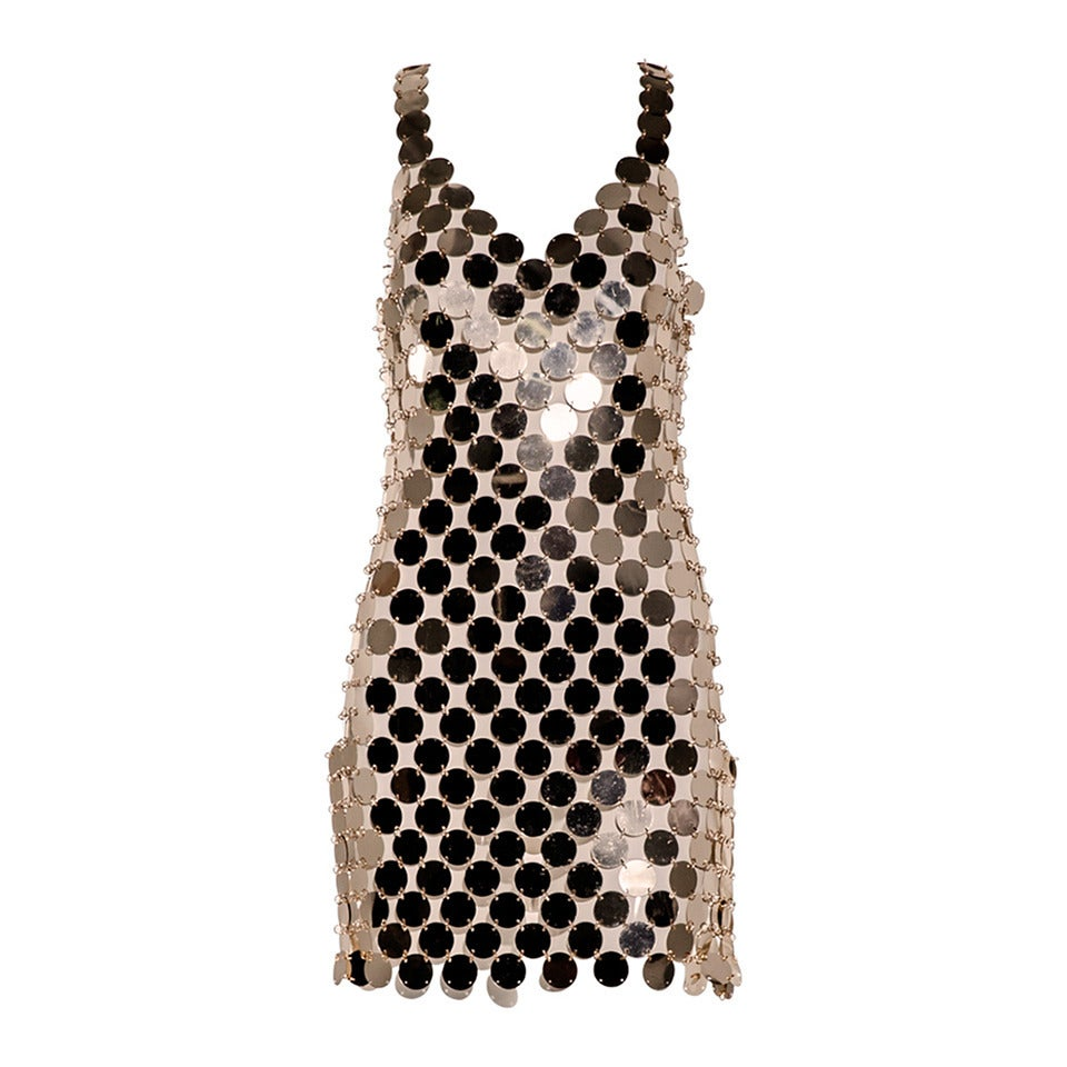 Paco Rabanne Gold Disc Dress At 1stdibs