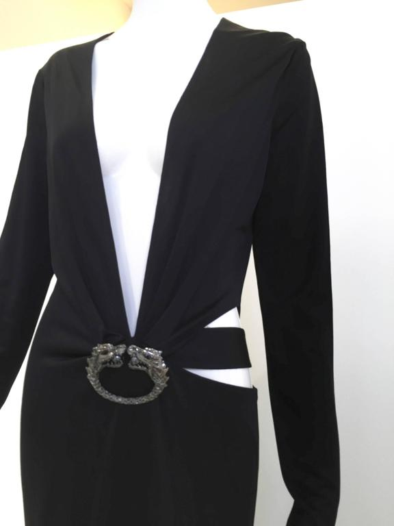 Iconic Gucci by Tom Ford black silk jersey gown at 1stdibs