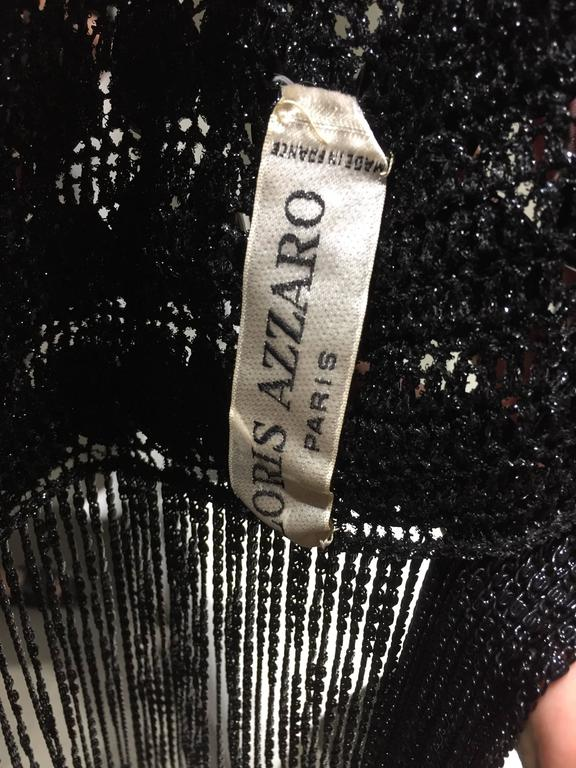 Women's 1970s LORIS AZZARO  Black Chainmail Crop Top For Sale
