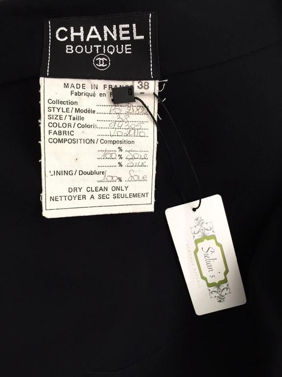 Black  Vintage CHANEL black dress with asymetrical hem For Sale
