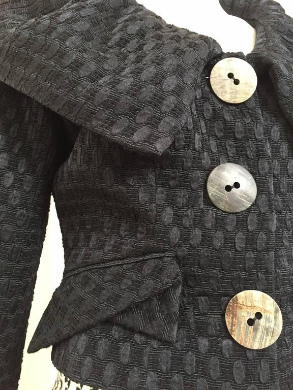 Vintage  John Galliano jacket and wool skirt set In Excellent Condition For Sale In Beverly Hills, CA