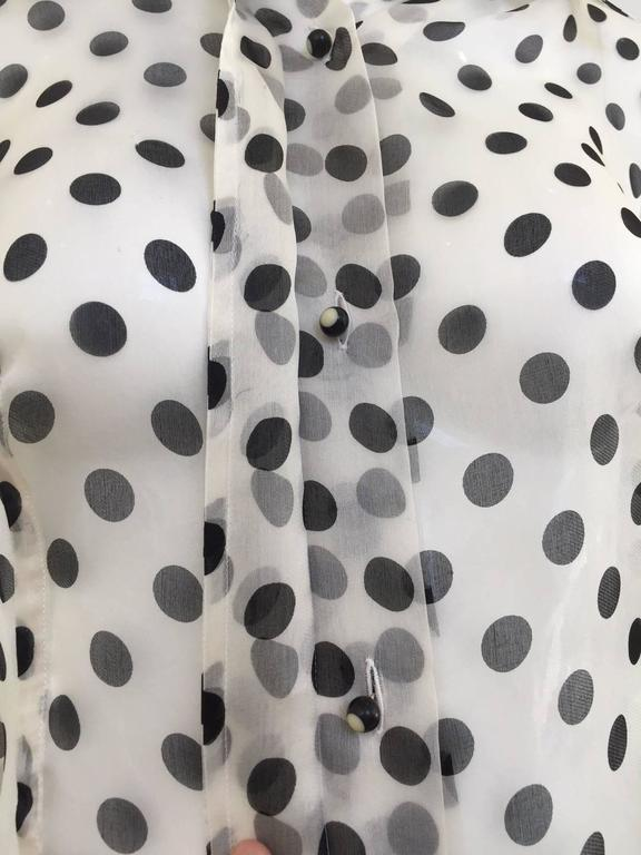 90s GIANFRANCO FERRE silk organza polka-dot blouse 2