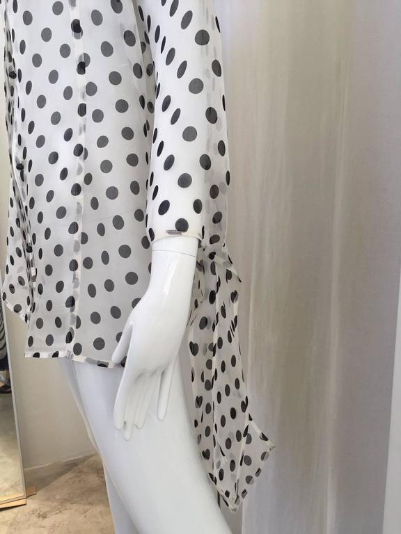 90s GIANFRANCO FERRE silk organza polka-dot blouse 3