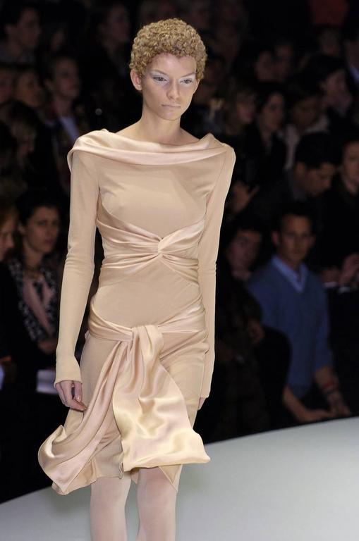Alexander Mcqueen 2004 Pantheon as lecum jersey dress at