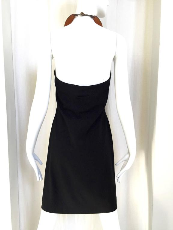 Jean Paul Gaultier  dress with leather collar In Excellent Condition For Sale In Beverly Hills, CA