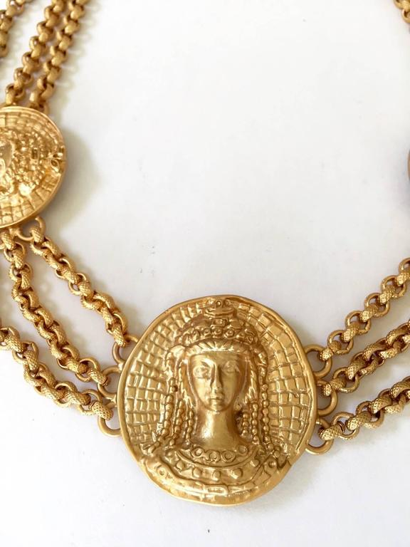 1980s Gianni Versace triple romanesque medallion necklace by Ugo Correani In Excellent Condition For Sale In Beverly Hills, CA